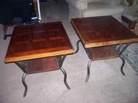 i have 2 end tables for sale ,the bottom is iron,the