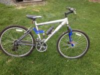 "First is a : Traid Blade Tp3 26"" mountain bike. It's is"