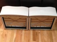 2 PRISTINE ( a PAIR) White Washer & Dryer pedestals