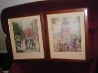 I have for sale 2 very old, rare, vintage prints,