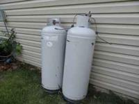 Two 25 gallon propane tanks, 2 years old and in great