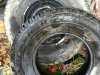 For sale and in good shape are 2 265/75/16 tires. 1