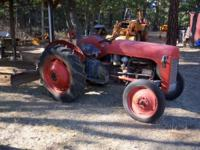 Ferguson Model 8N Tractor with rear blade, runs good