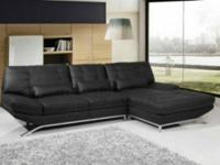 2 Pc.Amanda Black Leather Sectional Product ID#S8855P1