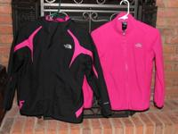 2pc. The North Face Jacket. Girls size M 10/12 The pink