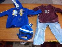 2t boy clothes for $2.00 hoddie, hat, shirt, jeans give