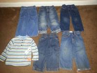 2T boys clothing lot for sale. 10 pants and 4 shirts.