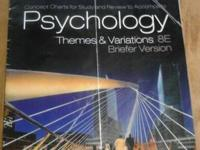 2 x   PSYCHOLOGY TEXTBOOK.  both are Used soft cover