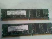 Hello, I am selling two 128mb DDR RAM. The Ram came