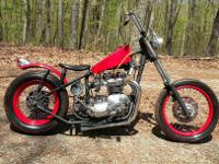 Old school Triumph Chopper - fresh frame up rebuild