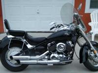 2001 Yamaha V-Star Classic 650cc. Nice clean bike with