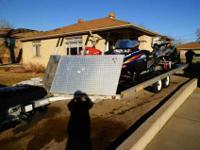 2005 Bear Track all aluminum snowmobile trailer. tandem