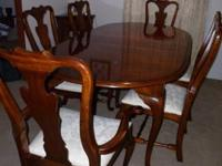 Beautiful, Traditional Formal Cherry Wood Dining Room
