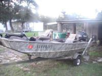 2002 14' G3 (riveted) aluminum fishing/duck hunting