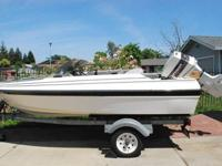 This is 14.5 ft Bayliner Capri. It has an awesome 60 hp