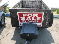 Utility trailer for sale. 3 1/2 x 6 Small tool box in