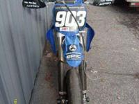 05 Yamaha YZ 450F set up for super moto. Runs and rides