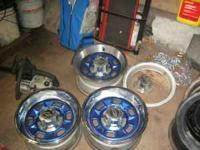 I have 3 14 inch chevy nova rims with 4 chrome rings