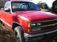 parting 89,90 & 91 chevy standard cab short bed 4 wheel