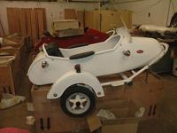 CLASSIC ROCKET SIDECARWhite , Red or Black in