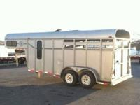 1999 Double D two horse trailer with dressing room.