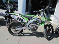 2008 KAWASAKI KX 450F, Lime Green, 2008 model refined