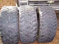 i have 3......35x12.5x20 toyo mud tires.......2 have