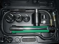 "Hydraulic Knockout punch driver set with 3/4"" - 2"""