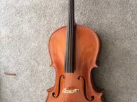 Offering a 3/4 size cello. In playing condition and has
