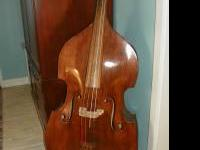 Upright Bass Guitar 3/4 Full Early 70's Palatino Walnut
