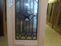 3/4 OVAL UNFINISHED MAHOGANY TEXAS STAR WOOD DOOR ON