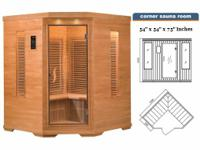 3-4 PERSON CORNER SAUNA WITH CARBON HEATERS ONLY $1300