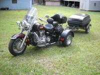 2000 YAMAHA ROADSTAR 1600cc WITH A LATE MODEL VOYAGER