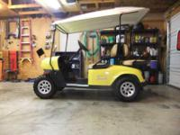 2007 EZ-GO dual cylinder gas golf cart. This is a very