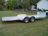 2012 Aluma 18' tilt deck car trailer. I bought this