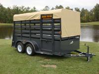 6.5 ft Tall, two Rear Gates, Haul 2 3 Horses, Canvas