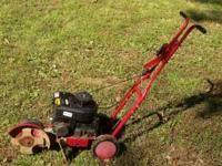 HI WE HAVE FORSALE A 3.5 HP. AS POWERED EDGER, RUNS