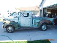 1942 CHEVY 1/2 TON PICKUP. I BOUGHT THIS TRUCK FOR MY