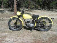 This is a 1949 Harley 125. Sometimes referred to as a