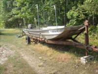 twenty feet Monark flat botton Jon Boat,(6ft wide at