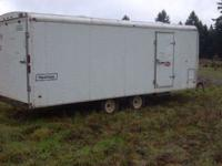 2003 26 feet v front enclosed snowmobile trailer.ramp
