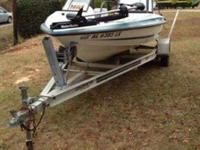 97 16 1/2 ft hydra sport fish and ski with a 115