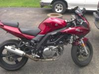 I am selling my 2007 Suzuki SV650s Motorcycle. The