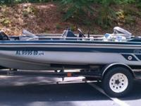 CHARGER BASS BOAT EARLY 90'S WITH 115HP EVINRUDE