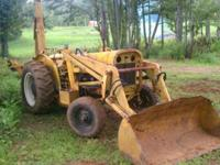 This Case backhoe has a 4 cylinder Perkins diesel