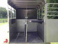 This two Horse 2004 Bee K amp amp K Stock Style Trailer