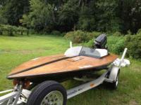 13 ft CritchField Race boat with 70 horsepower Mercury