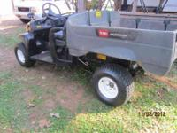 TORO nine WORKMAN MD -- UTILITY -- DUMP BED -- twelve