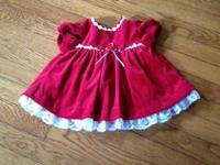Beautiful red velvet dress only worn once.