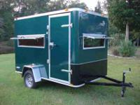 Brand New Enclosed Hunting Trailer Haul Your ATV and